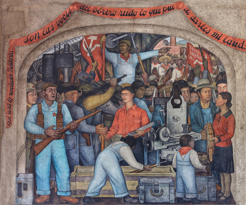 En el arsenal. Diego Rivera, 1929. Fresco 4.41 * 4.01 m