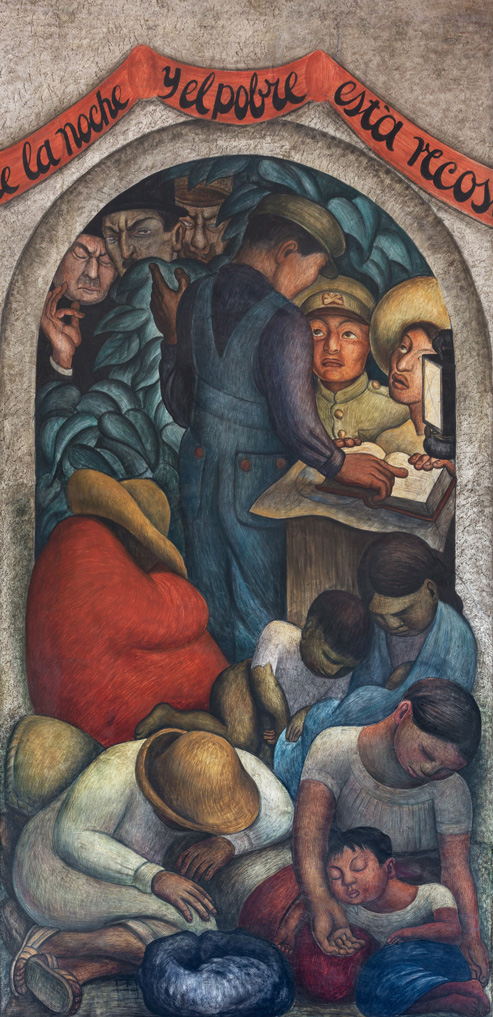 El sue�o. Diego Rivera, 1928. Fresco 4.39 * 1.60 m