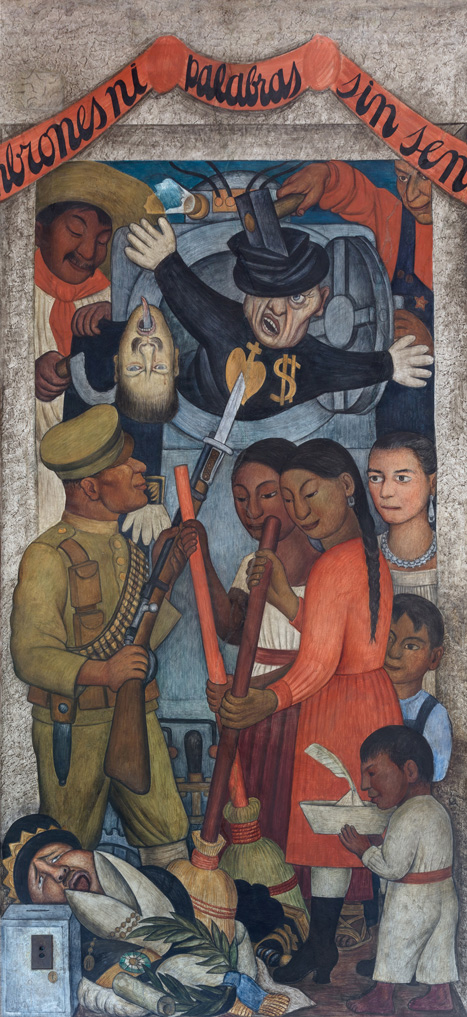 Garant�as. Diego Rivera, 1928. Fresco 4.43 * 1.51 m